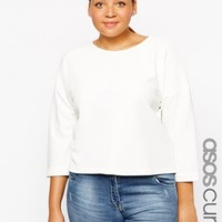 ASOS CURVE Textured Top With Seam Front