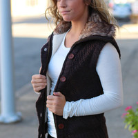 Out of the Woods Vest {Dark Brown}
