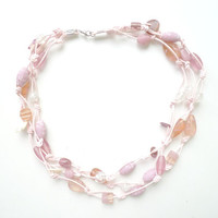 Sweetheart // Bold Necklace in Pink Hues