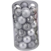 Holiday Time Silver and Zinc Shatterproof Christmas Ornaments, 41-Count - Walmart.com