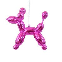 New PINK Balloon Poodle Pet Dog Christmas Tree Ornament