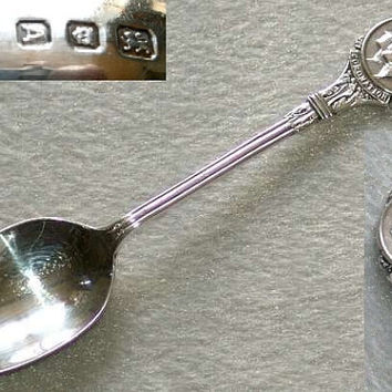 George VI 925 Sterling Solid Silver 1937 Commemorative Coronation Spoon by Josiah Williams & Co and Hallmarked for London 1936 (ref: 3009)