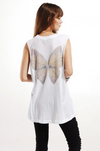 Wildfox Fairy Wings Muscle Tank in Clean White