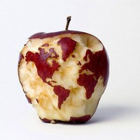 World Map Apple | Cute Fruit | CutestFood.com