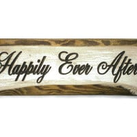 Happily Ever After Mini Wood Sign