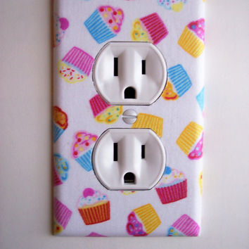 Cupcakes Outlet Plate Switch Plate Switchplate