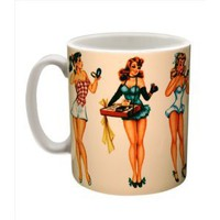 Pin Up Girls Mug: Amazon.co.uk: Kitchen & Home