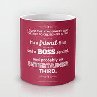 The Office Michael Scott Quote Season 1 Episode 1 - Friend First - Burgundy & White Mug by Noonday Design