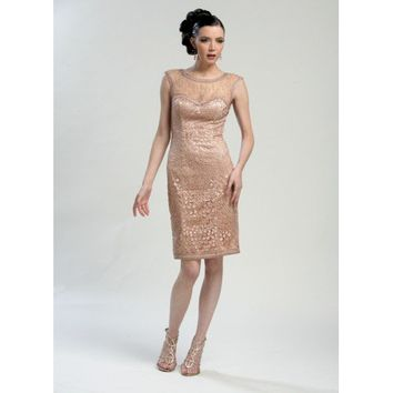 Sue Wong Embroidered Cocktail Dress  - C3230
