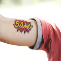 bam shout-out temporary tattoo