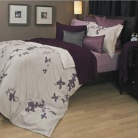 Daniadown 55387D Tokyo Purple Duvet Cover Set Duvets