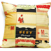 Cosmo Cricket Pillow cover  - 18x18 Cushion cover