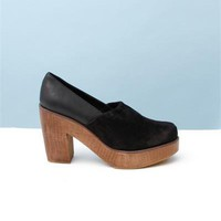 Rachel Comey Sigh Suede Platform Slip-ons- Black