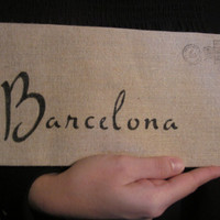Barcelona Cotton Canvas Envelope Clutch Bag