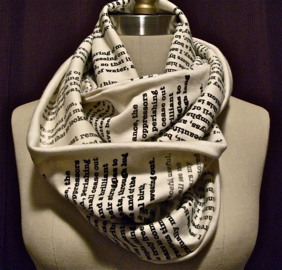 Wrap Up With A Good Book Scarf: A Tale of Two Cities