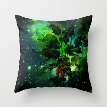 holly Throw Pillow by clemm