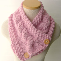 Windy City Cabled Cowl in Sweet Pink Fall Winter Fashion