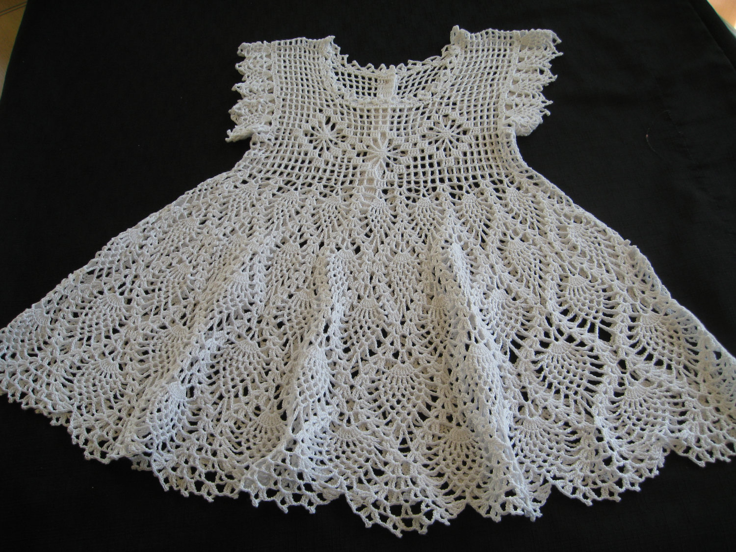 Crochet Baby Dress Free Pattern By Kitty For K : Baby Christening Dress or Flower Girl from ...