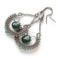 Tutorial II - wire wrapped earrings step by step PDF file