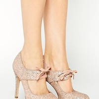 New Look Nonna Cut Out Glitter Lace Shoes