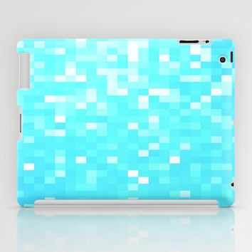 Turquoise Pixel Sparkle iPad Case by 2sweet4words Designs