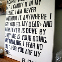 I Carry Your Heart - E.E. Cummings Poem on Canvas
