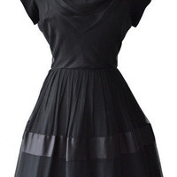 1950s Black Vintage Prom Dress 14 | Natasha Bailie Vintage Clothing Company