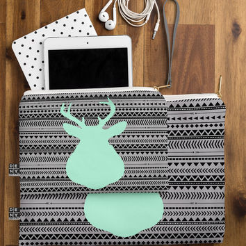 Allyson Johnson Deer And Aztec Pouch