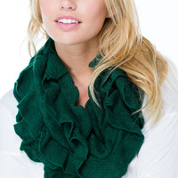 All Ruffled Up Infinity Scarf