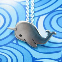 Handmade Gifts | Independent Design | Vintage Goods Narwhal Necklace - Jewelry - Girls