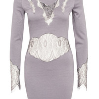 Lace Bodoir Dress - Rebecca Stella For Nelly - Grey - Party Dresses - Clothing - Women - Nelly.com
