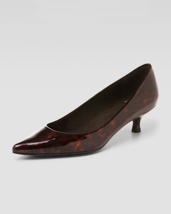 Poco Patent Leather Kitten-Heel Pump