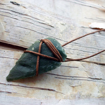 Agate Arrowhead Necklace 18 Inch Bohemian Boho Hippie Tribal Arrow Head String Wrapped Native American Inspired
