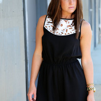 From Black To White {Romper}
