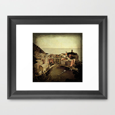 vernazza Framed Art Print by inourgardentoo | Society6