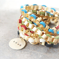 Love Disc bracelet / Choose your colors