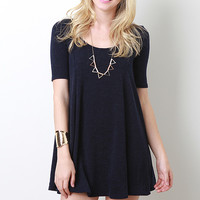 Solid Woven Flow Dress