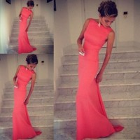 Leshery New Sexy Women Sleeveless Prom Ball Cocktail Party Dress Formal Evening Gown (S)