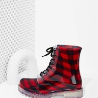 Roadie Combat Rain Boot - Plaid