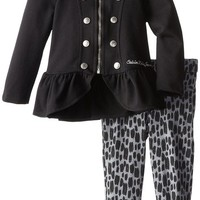Calvin Klein Little Girls' Military Jacket Set