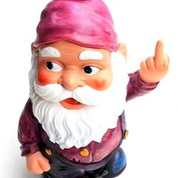 Funny Guy Mugs Middle Finger Gnome