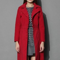 Variety Queen Coat and Skirt Set in Red Red