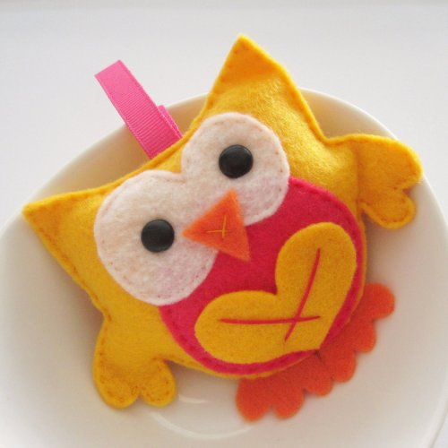 Stuffed Owl, Mini Felt Owl Birthday.. on Luulla