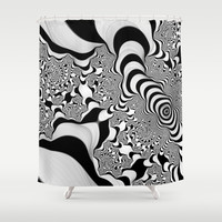 Into Infinity Shower Curtain by Christy Leigh | Society6