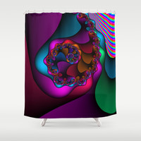 Layered TIme Shower Curtain by Christy Leigh | Society6