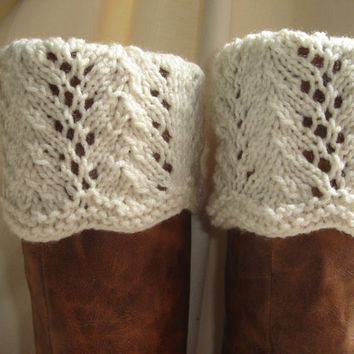 Boot Toppers - Scalloped Feather & Lace