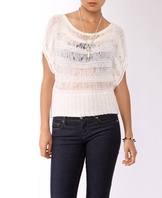 Open Knit Dolman Top