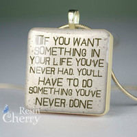 quote scrabble tile pendant,quote pendant, quotes necklace pendant,quote jewelry pendant, resin pendants- P1118SP