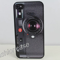 Black Camera  Hard Case Cover for Apple iPhone 4gs Case, iPhone 4s Case, iPhone 4 Hard Case
