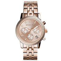 Michael Kors Ritz Rose Gold Chronograph Watch